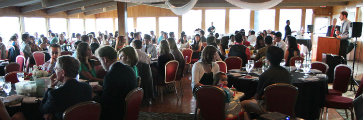 students and their significant others attend the clinical commencement dinner