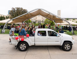 Drive through ceremony for 2021 commencement